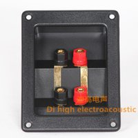 audio terminal block connector - Super strong speaker wiring box audio terminal block box ternminal Spekaer terminal connector speaker accessories