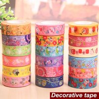 Wholesale 18 Japanese paper tapes Washi adhesive tape Zakka DIY scrapbooking masking stickers supplies adesivo papeleria