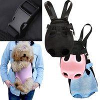 Wholesale Pet Bag Dog Supplies Cat Carrier Five Holes Backpack Front Chest Backpack Pink Light Blue Black Pet Products