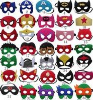 Wholesale 2016 New kids superhero mask cosplay hot sell halloween mask halloween half masks Batman Captain America Superman Spiderman mask Eye Masks