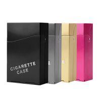 Wholesale Aluminum Pieces Cigar Cigarette Tobacco Holder Storage Case Pocket Box new arrival