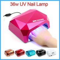 best electric dryers - 6 Colors CCFL W LED Light Diamond Shaped W UV Lamp Nail Dryers Best Curing Nail Dryer Nail Art Lamp Care Machine for UV Gel Nail Polish