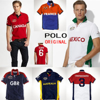 Wholesale Brand Designer Polo T Shirts For Men Cotton Embroidery USA CANADA United Kingdom Australia ITALY FRANCE Casual Men s Short Sleeve Shirt