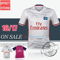 away pink soccer - 2017 Top Quality Bundesliga Hamburger SV home white away red pink soccer jersey uniform Shorts sleeve Football Shirts