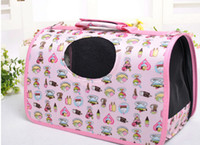 Wholesale pet dog bag cat outdoor carrier bag pet carring case with black mig Size S M L