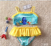 Wholesale Girls Finding Dory Piece Tankini Big Girl Swimsuit Kids Swimsuit Baby girl clothes DL