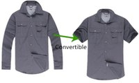 Wholesale Mens Fast Dry Hiking Shirt Long Sleeve Camping Y Senderismo Chaqueta Hombre Breathable Convertible Button Up Camping Jacket