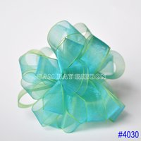 Wholesale 1 quot mm Colors Options Ombre Sheer Ribbons DIY Multicolor riband Crafts Wedding Party Decorations yards roll