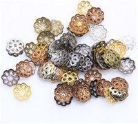 al por mayor flor de metal para la fabricación de joyas-Consejos filigrana de la flor del metal modelado del extremo inferior casquillos del grano resultados de la joyería de las pulseras de la joyería que hace bricolaje