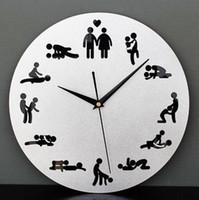 Wholesale Sex Position Clock Hours Sex Clock Novelty Wall Clock