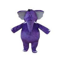 adult elephant costumes - Purple Elephant fries Mascot Costume Cartoon Character Adult Size Longteng TM