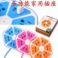 Wholesale Usb Creative Lemon Socket Home Office Creative gadgets