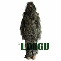 Wholesale Woodland Camo Jungle Birding Military Durable Sniper Tactical Camouflage Woodland Ghillie Suit Kit for Hunting Wargames