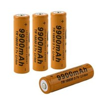 Wholesale TR V mAh Li ion Rechargeable Battery Lithium Batteries Baterias Bateria For Flashlight Headlamp Brown Red Yellow