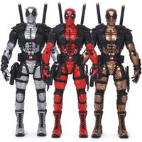 Wholesale Marvel Movie X man Special Ver Grey Red Golden Deadpool Action Figure Collectable CM Inch Model Superhero PVC Red