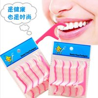 Wholesale Factory Price Dental Floss Picks Waxed Teeth Oral Care Triple Clean Dental Floss Picks Waxed Teeth