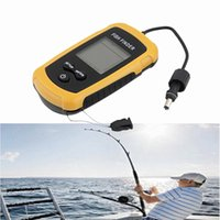 Wholesale Fish Finder Detector Portable Sonar Wired LED Fish depth Finder Alarm M AP Electronic Fishing Tackle