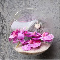 Wholesale 2016 Hanging Glass Flowers Planter Vase high Quality Terrarium Container Home Garden Ball Decors