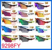 al por mayor bicicleta gafas de sol mujer-El deporte más nuevo del hombre del verano que completa un ciclo las gafas de sol de las gafas de sol de las mujeres de las gafas de la bicicleta se divierte los colores al aire libre 15colors de los colores que envían libremente