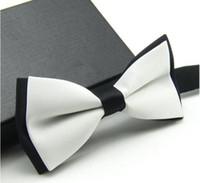 Wholesale Unisex Neck Bowtie Bow Tie Adjustable Bow Tie High Quality Metal Adjustment Buckles Optional multi color