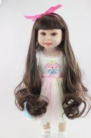 american infant doll - New Arrival cm Fashion Vinyl American Girls Doll Reborn Baby Princess Lifelike Doll Infant Clothing Model Girl Brinquedos
