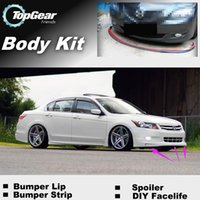 Wholesale Bumper Lip For Honda Inspire Saber Vigor CB CC UA UC CP Front Skirt Deflector Spoiler For Car Tuning The Stig Recommend Body Kit Strip