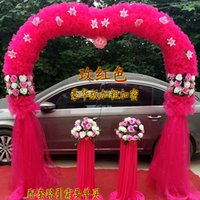 Wholesale The new silk wedding flower door arches Events Wedding Flowers snow yarn opened heart shaped