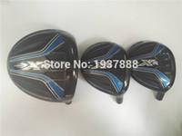 Wholesale 3PCS XR16 Wood Set PC Golf Driver Clubs quot quot Fairway R S Flex Graphite Shaft With Head Cover