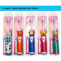 Wholesale Kids toothbrush electric toothbrush Cartoon Children Electric massage Ultrasonic Toothbrush teeth Care Oral Hygiene Dental Care KKA431