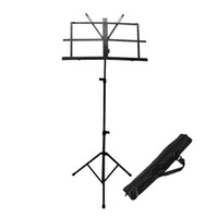 Wholesale Enhanced Version Adjustable Folding Music Stand With Carrying Bag Black Color