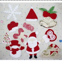 bell patch - 5pcs sequined christmas man bell hat snow man christmas tree lollipop cartoon patch for clothing christmas clothes diy accessories521
