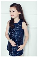 kids clothes high quality - Brand New Summer Girls Clothing Set Girls Sequins Skirt one Pieces High quality Suit Princess Kids Clothes qz