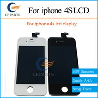 iphone parts - AAA Best Quality White Black Replacement Parts For Apple iPhone S LCD Screen Display Assembly Complete Fast Shipping