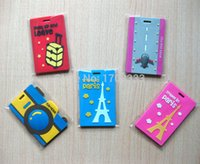 Wholesale DHL PVC travelling luggage tag suitcase label ID card holder travel handtag RFT964
