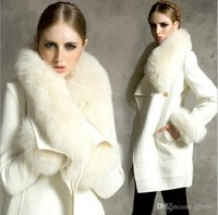 Wholesale Really high quality sheepskin coat Rabbit fur jacket female fox fur of luxury Warm winter high quality fur coat white