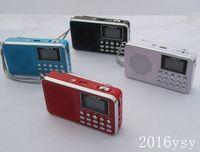 Wholesale L B AM mini portable FM AM radio with LED flashlight support TF micro SD card and USB flash drive