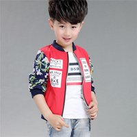 Wholesale 2016 stamp boy children autumn coat jacket coat cotton cardigan baseball clothing Korean children