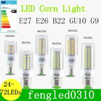 Wholesale SMD E27 E14 LED Lamp SMD LED Lights Corn Led Bulb Leds Chandelier Candle Lighting Home Decoration