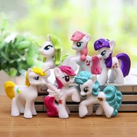 animations baby horse - brinquedos cm Animation Little Horse Action Figure Toy Children s Love Rainbow Horse Poni baby Toys funko pop toy