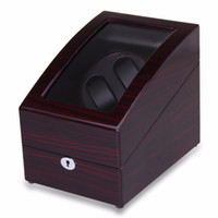 automatic watch winder box - High Quality Automatic Rotation Leather Watch Winder Storage Display Case Box Gift Brown From UK Warehouse