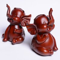 asia carvings - Home Furnishing Creative Gifts Southeast Asia pattern crafts FengShui ornaments resin elephant F096