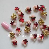 Wholesale MD D bag Nail Decoration Metal Shinny Mix Rhinestone Metal Nail Art Decoration nail art decoration