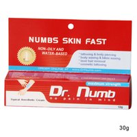 Cheap 2pcs lot Dr NUMB Skin Fast Cream No pain Tattoo Body Piercing Waxing Laser Anesthetic Painless