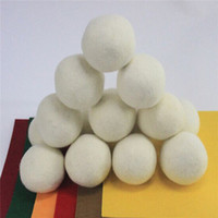 Wholesale 6pcs Premium Wool Dryer Balls Reduce Wrinkles Reusable Natural Fabric Softener Anti Static Large Felted Organic Wool Clothes Dryer Ball