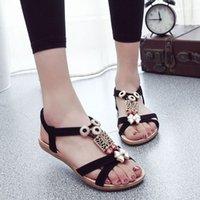 aa folk - falt heels Retro Beaded folk style Sandals d88