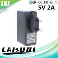 Wholesale 1pcs V A USB AC DC Power Adapter EU Plug Charger Supply V2A for Mobile Phone MID Other the new arrival hot sale