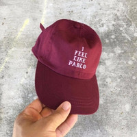 Wholesale I Feel Like Pablo Red Hat Authentic bear Dad Baseball Cap Kanye West Yeezus TLOP drake dad hat casquette
