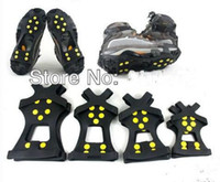 Wholesale Anti slip Snow Ice Shoe Gripper Spike Cleat Crampon Size S M L XL With Skin Packing pairs