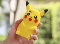 apple pikachu - 2016 hot selling cute silicone pikachu D phone case for iphone plus S S plus s plus samsung S6 S6edge S7 S7edge