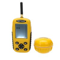 Wholesale Dot Matrix LCD Rechargeable Wireless Fish Finder to ft Depth Fishing Sonar Sensor Sounder Alarm Transducer Fishfinder